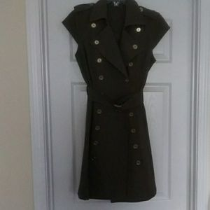 Calvin Klein double button Dress